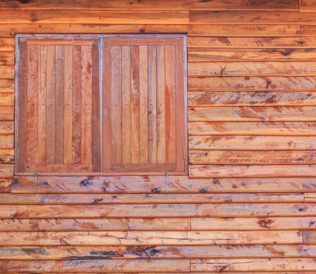 Wooden window and textured photo