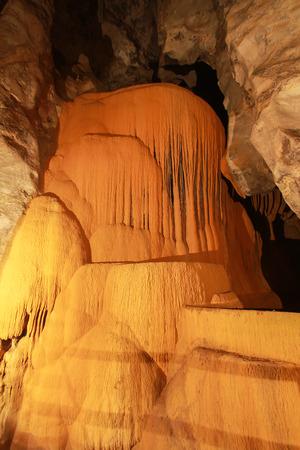 stalagmite: a cave in thailand