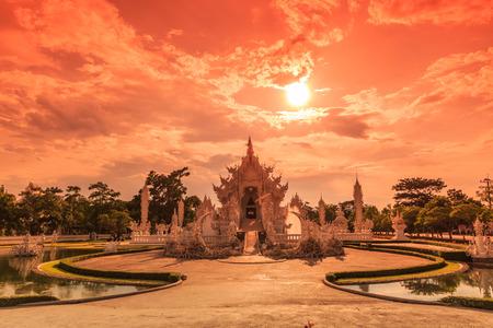 chiangrai: Thailand Temple - Wat Rong Khun of Chiangrai Asia Thailand