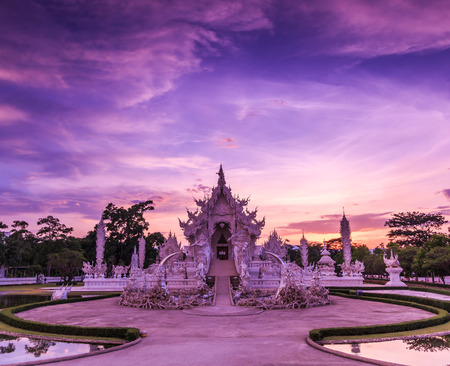 Thailand Temple - Wat Rong Khun of Chiangrai Asia Thailand photo