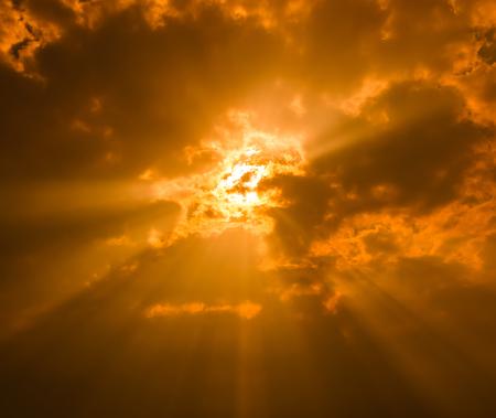 Sunset Himmel und Wolken Hintergründe
