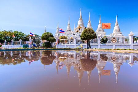 Wat asokaram Temple in Samut Prakan Thailand photo