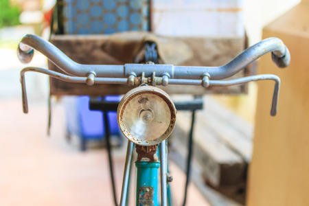 angled view: Old bicycle Stock Photo
