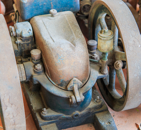 traction: Old engine Traction machine code old water Stock Photo