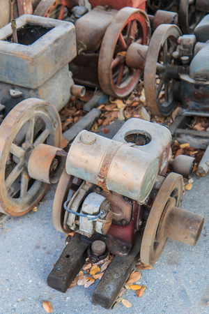 traction engine: Old engine Traction machine code old water Stock Photo