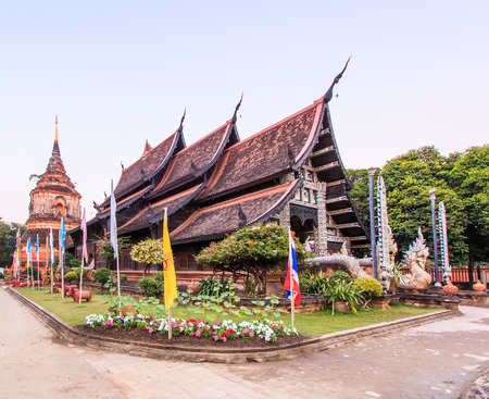 molee: Old wooden Temple of Wat Lok Molee Chiang mai Thailand.They are public domain or treasure of Buddhism, no restrict in copy or use