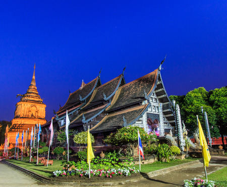 molee: Old wooden Temple of Wat Lok Molee Chiang mai Thailand.