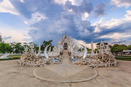 chiangrai: Thailand Temple - Wat Rong Khun of Chiangrai Asia Thailand. Stock Photo