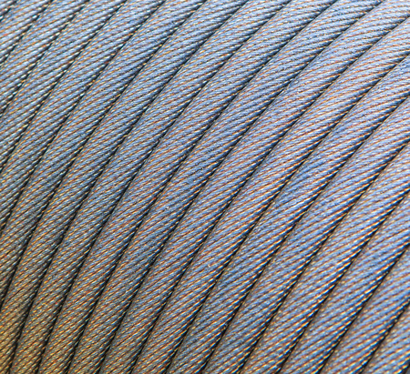 slings: Steel wire rope cable closeup Slings Stock Photo