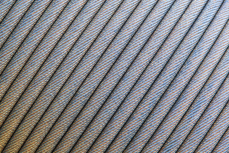 Steel wire rope cable closeup Slings photo