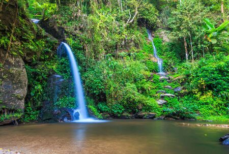 Monta than waterfall in Chiang Mai Asia Thailand photo