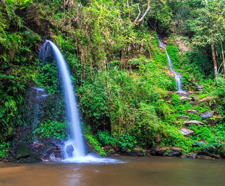 than: Monta than waterfall in Chiang Mai Asia Thailand