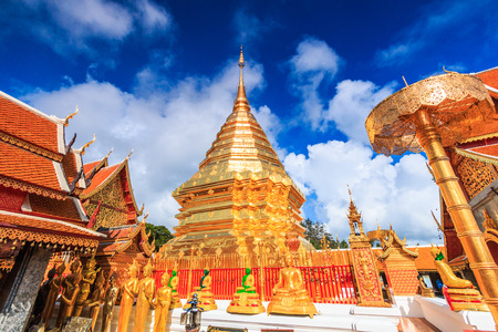 public domain: Golden pagoda wat Phra That Doi Suthep chiangmai Thailand, They are public domain or treasure of Buddhism, no restrict in copy or use
