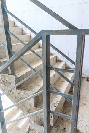 Construction Building inside under construction ,stair hall photo
