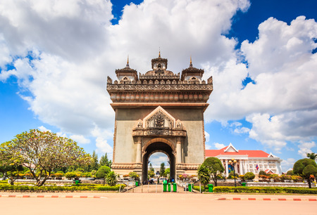 literally: Patuxai literally meaning Victory Gate or Gate of Triumph, formerly the Anousavary or Anosavari Monument, known by the French as (Monument Aux Morts) is a war monument in the centre of Vientiane,Laos