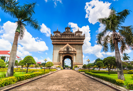 hdri: Patuxai literally meaning Victory Gate or Gate of Triumph, formerly the Anousavary or Anosavari Monument, known by the French as (Monument Aux Morts) is a war monument in the centre of Vientiane,Laos