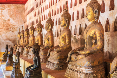 restrict: Wat Saket in Vientiane, Laos , They are public domain or treasure of Buddhism, no restrict in copy or use