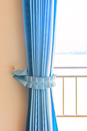 draped cloth: curtains background Stock Photo