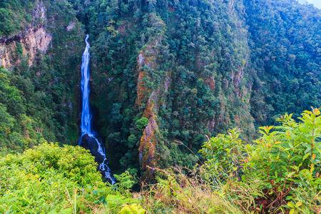 Mae Surin waterfall at Mae Hong Son Thailand photo