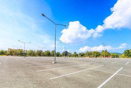 parking spaces: Empty parking lot