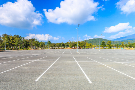a lot  of: Empty parking lot