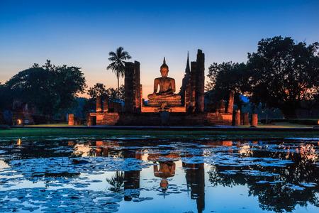 スコータイ歴史公園、タイの古い町は、パブリック ドメインまたは仏教の宝もコピーに制限または使用 写真素材