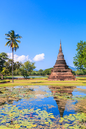 restrict: Sukhothai historical park, the old town of Thailand , They are public domain or treasure of Buddhism, no restrict in copy or use