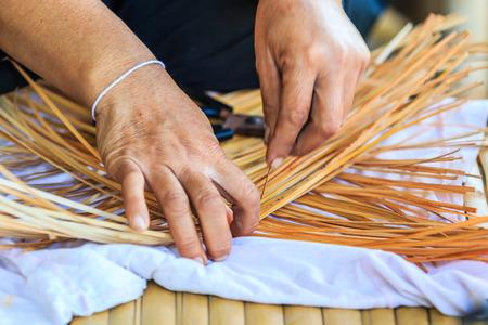 thailand bamboo: Weave pattern hand bamboo, Bamboo weaving