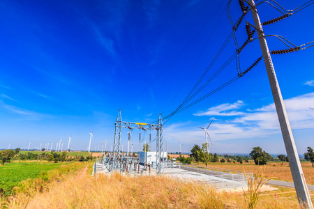 megawatt: Electrical substation, Power Station Stock Photo