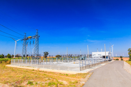megawatt: Electrical substation, Power Station Stock Photo