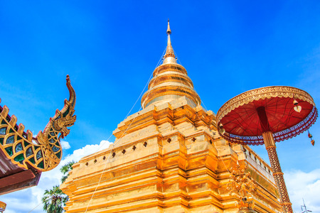 restrict: Temple  Wat Phra Sri Chomtong Phra That Chom Thong Of Chiang Mai ThailandThey are public domain or treasure of Buddhism no restrict in copy or use Stock Photo