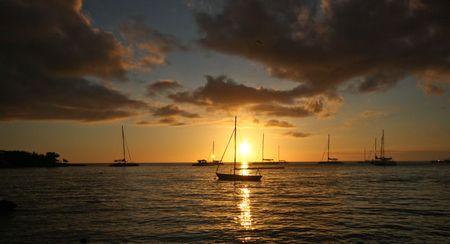 littoral: Bech sunset at La Romana, Dominican Republic
