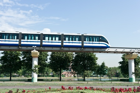 Monorail train in Moscow, Russia