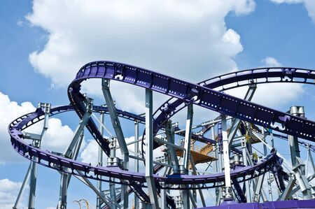 Roller coaster in Moscow, Russia, East Europe Editorial