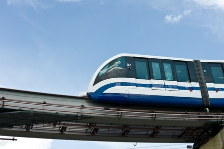Monorail train in Moscow, Russia, East Europe