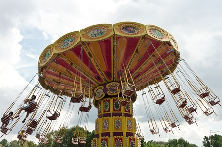 Colorful carousel in Moscow, Russia
