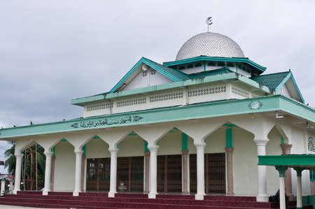 伊斯兰清真寺在Balai岛,Banyak Archipelago,印度尼西亚