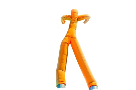 Dancing inflatable man isolated on white background Stock Photo