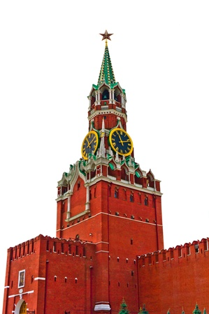 Moscow Kremlin isolated on white background, Russia