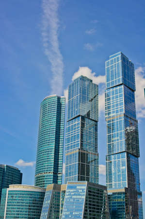 Skyscrapers of Moscow city, Russia, East Europe Stock Photo