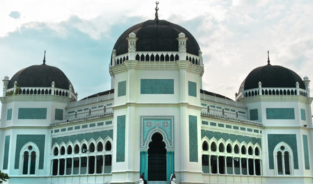 Great Mosque of Al-Mashun in Medan, Sumatra, Indonesia 스톡 콘텐츠