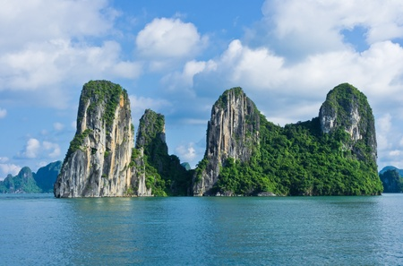 Islands in Halong Bay, Vietnam, Southeast Asia