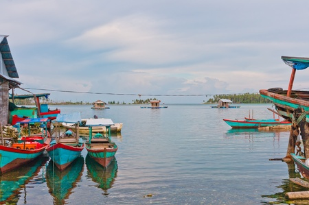 Floating fishing village, Banyak Archipelago, Indonesia, Southeast Asia