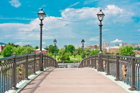 Tsaritsino 公園、モスクワ、ロシア、東ヨーロッパの橋