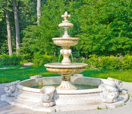 fountains: Ancient Fountain in Kuzminki Park, Moscow, Russia, East Europe