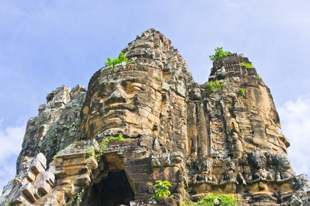 Entrance in Angkor area, near Siem Reap, Cambodia, Southeast Asia