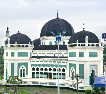 Great Mosque of Al-Mashun in Medan, Sumatra, Indonesia, Southeast Asia