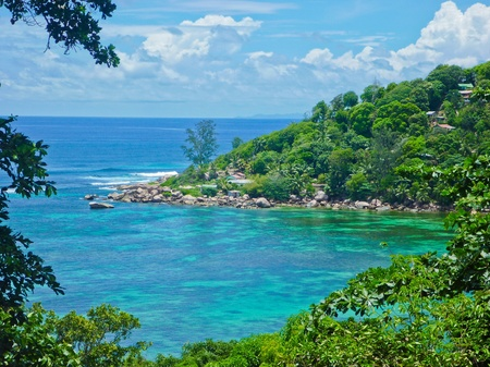 Bay on Praslin Island, Seychelles, Indian Ocean, Africa photo