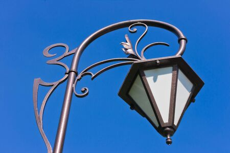 Old lantern on street, Moscow, Russia, East Europe photo