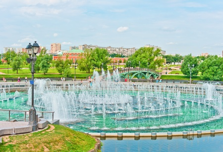 View of Tsaritsino Park, Moscow, Russia, East Europe